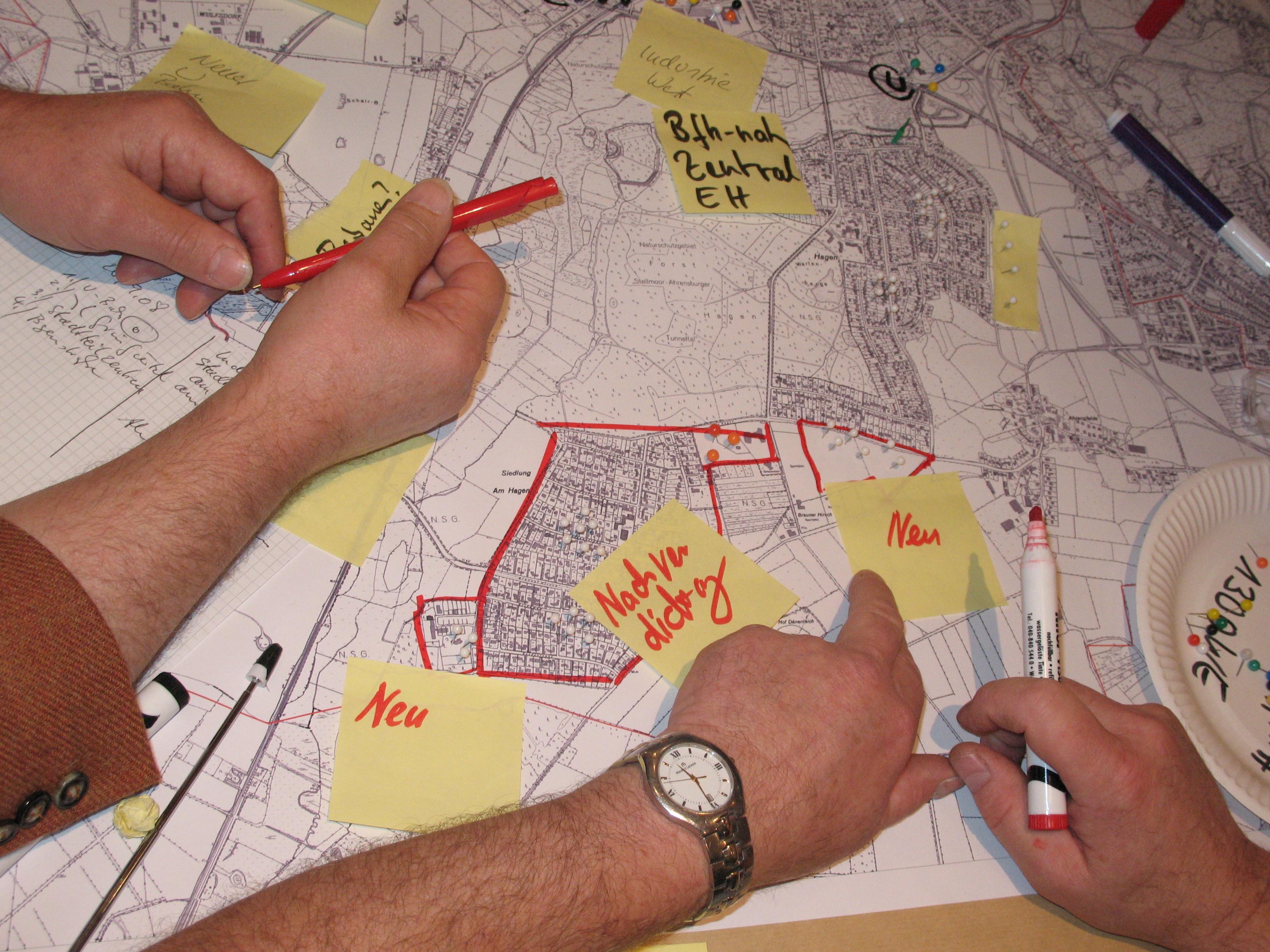 Bürgerbeteiligung auf einer Zukunftswerkstatt