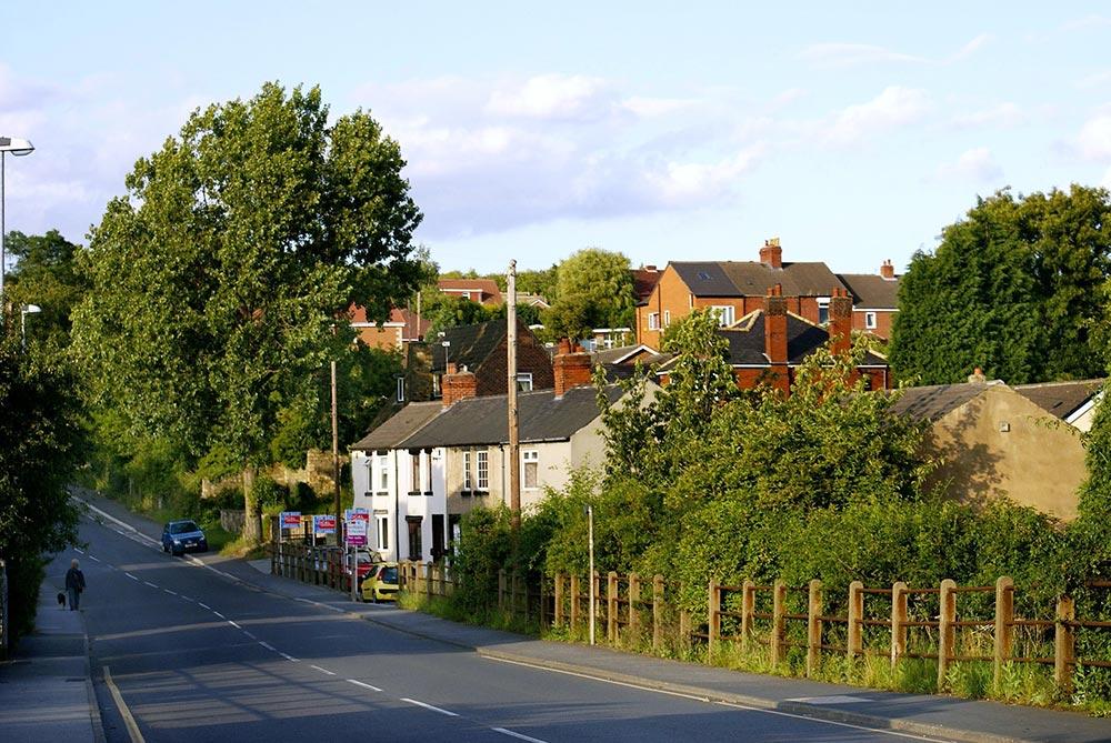 Straße in einer Kleinstadt