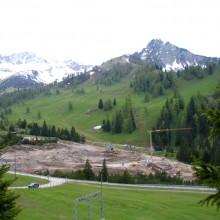 Baustelle in den Bergen