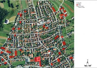 Baulücken in einer Kommune, Quelle: LUBW und LGL Baden-Württemberg